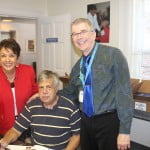 Dr. Berger, Debbie Phelps and Farrell Maddox, BCPS Supervisor, Office of Visual Arts
