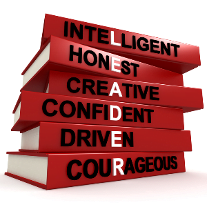 Leader is, Intelligent, Honest, Creative, Confident, Driven, Courageous
